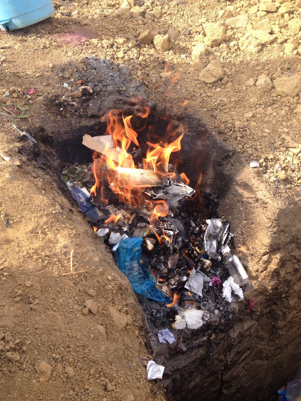 Photo of garbage burning